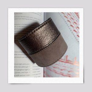 Colette Malouf Taupe Leather Cuff
